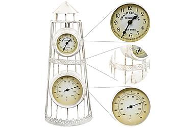 Veggklokke med termometer gammeldags