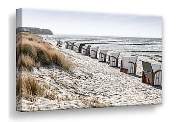 Beach Huts Bilde 75x100 cm