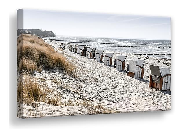 Strålende Beach Huts Bilde 75x100 cm - Lerret | Trademax.no LO-72