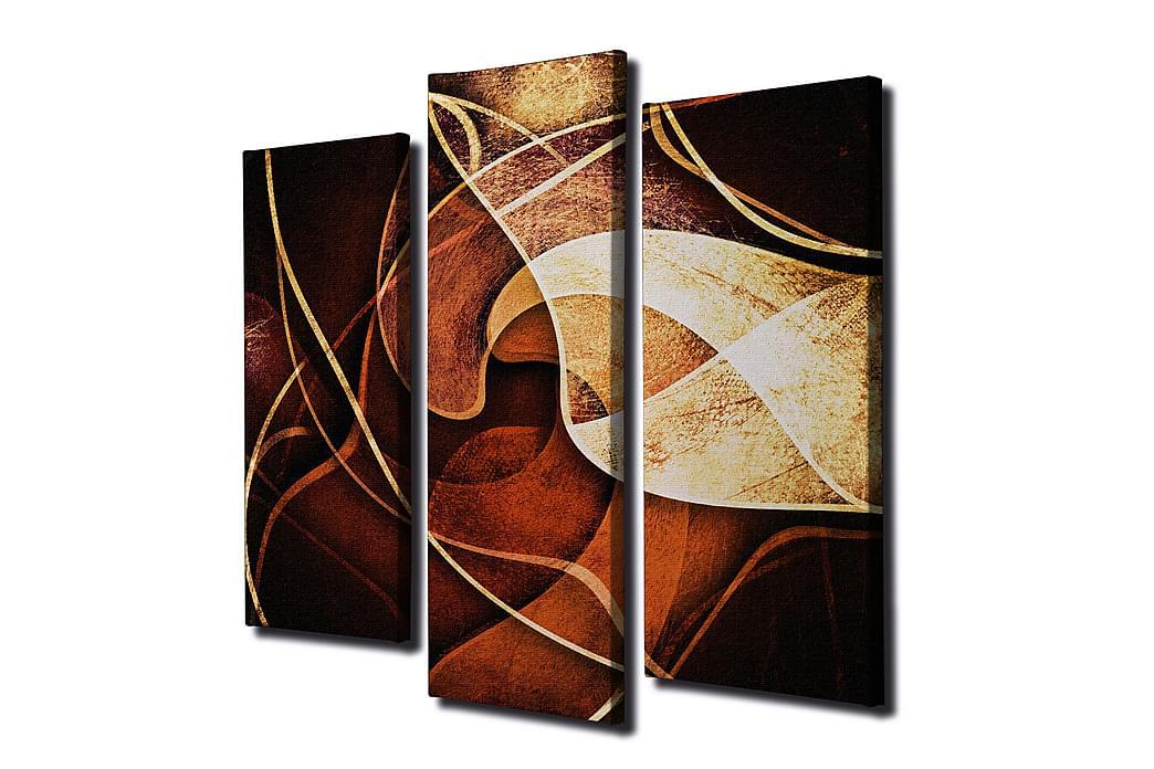 Dekorativ Canvasbilde 3 Deler - Flerfarget - Innredning - Veggdekorasjon - Lerretsbilder