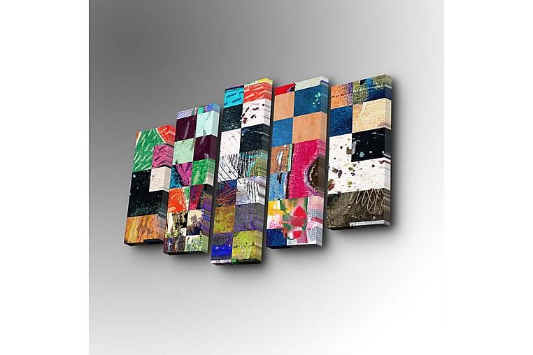 Dekorativ Canvasbilde 5 Deler - Flerfarget - Innredning - Veggdekorasjon - Lerretsbilder