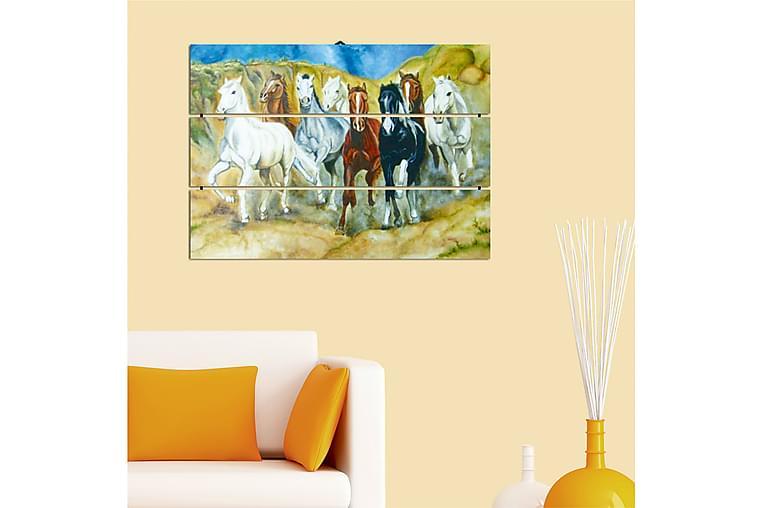 Dekorativ MDF-bilde 3 Deler - Flerfarget - Innredning - Veggdekorasjon - Lerretsbilder