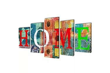 Kanvas Flerdelt Veggdekorasjon Flerfarget Home Design 200x10