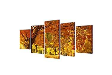 Kanvas Flerdelt Veggdekorasjon Lønnetre 100x50 cm
