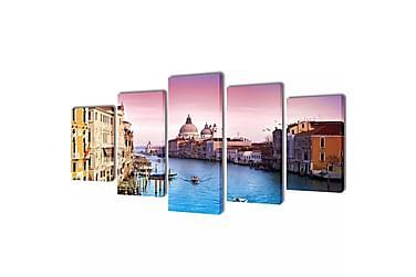 Kanvas Flerdelt Veggdekorasjon Venezia 100x50 cm