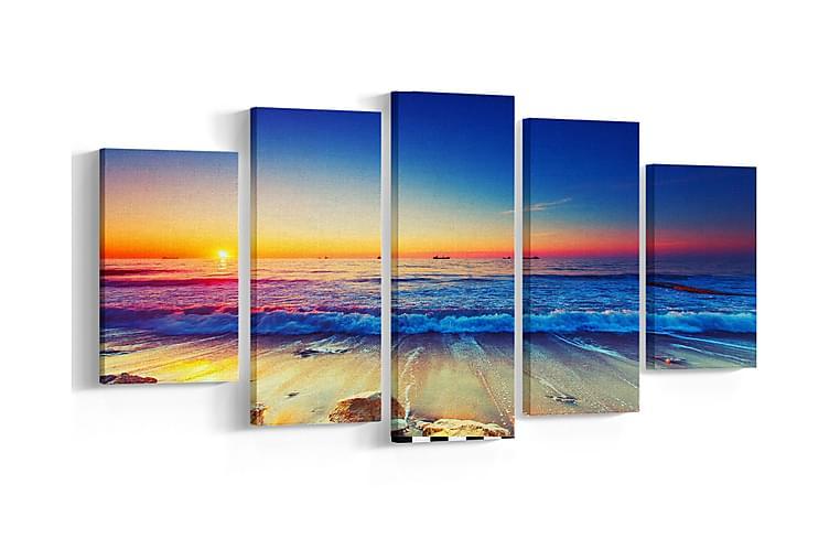 Bilde 5-delt - Homemania - Innredning - Veggdekorasjon - Metallskilt