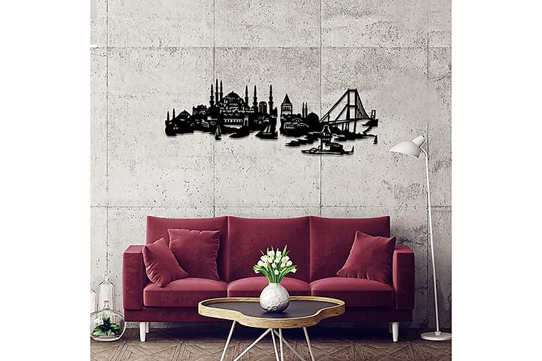 Dekorativ Veggpynt - Svart - Innredning - Veggdekorasjon - Metallskilt
