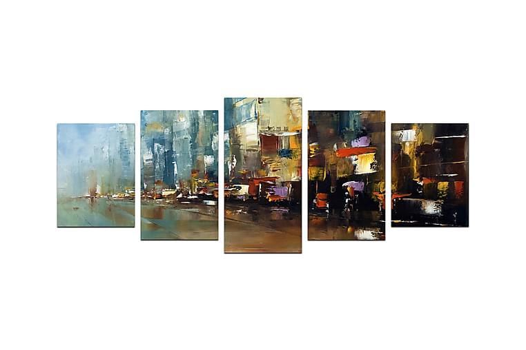 Bilde Abstract 5-pk Flerfarget - 22x06 cm - Innredning - Veggdekorasjon - Posters