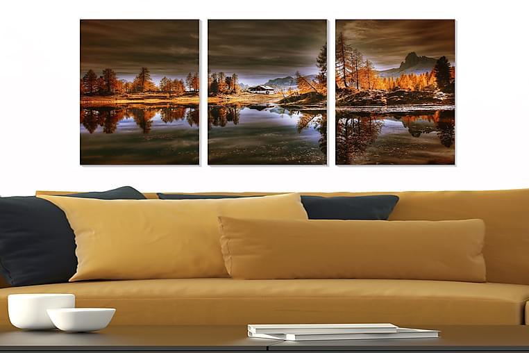 Bilde City 3-pk Flerfarget - 22x05 cm - Innredning - Veggdekorasjon - Posters