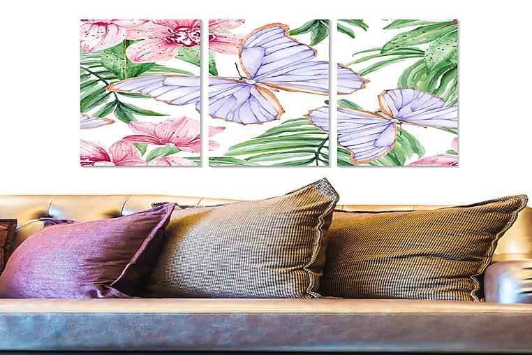 Bilde Floral 3-pk flerfarget - 22x05 cm - Innredning - Veggdekorasjon - Posters