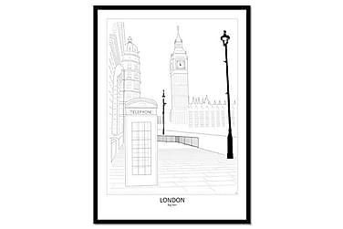 Bilde Poster Street View London