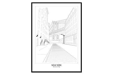Bilde Poster Street View Manhattan