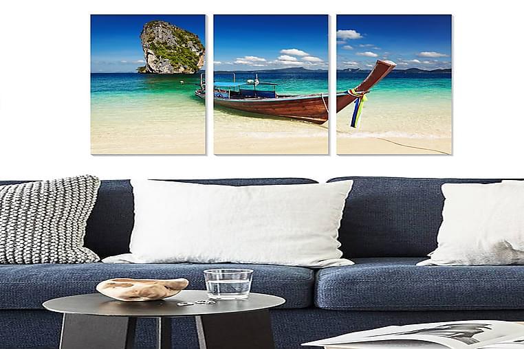 Bilde Scenic 3-pk Flerfarget - 22x05 cm - Innredning - Veggdekorasjon - Posters