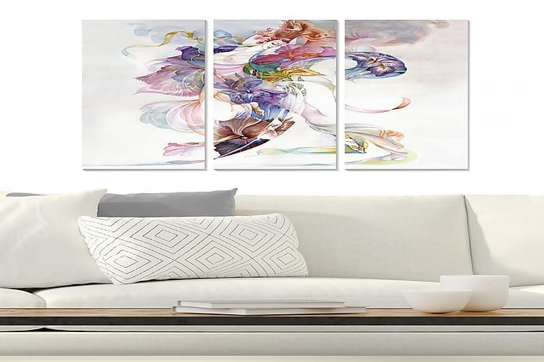 Canvasbilde Abstract 3-pk Flerfarget - 22x05 cm - Innredning - Veggdekorasjon - Posters