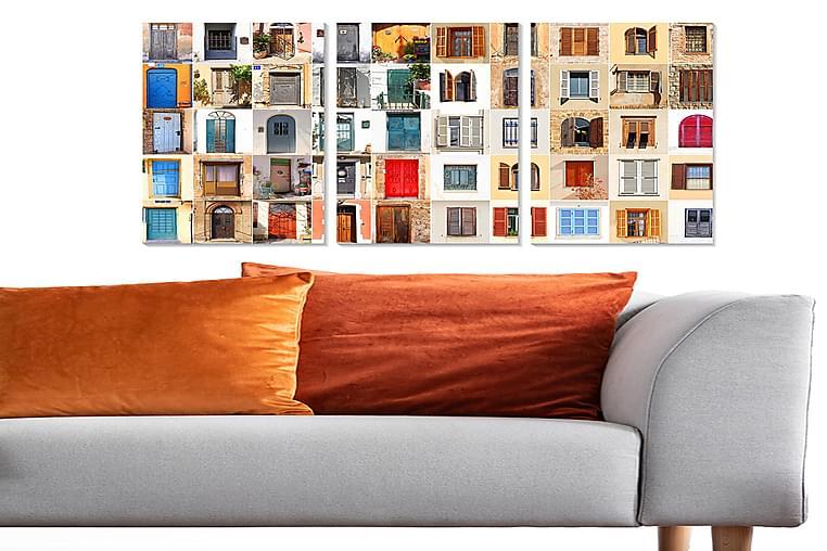 Canvasbilde Building 3-pk Flerfarget - 22x05 cm - Innredning - Veggdekorasjon - Posters