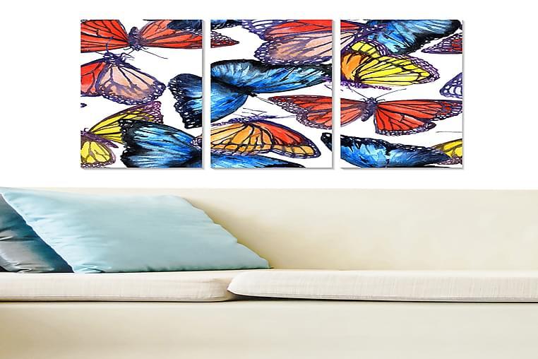 Canvasbilde Colorful 3-pk Flerfarget - 22x05 cm - Innredning - Veggdekorasjon - Posters
