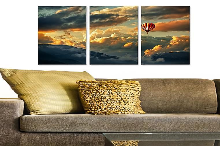 Canvasbilde Scenic 3-pk flerfarget - 22x05 cm - Innredning - Veggdekorasjon - Posters