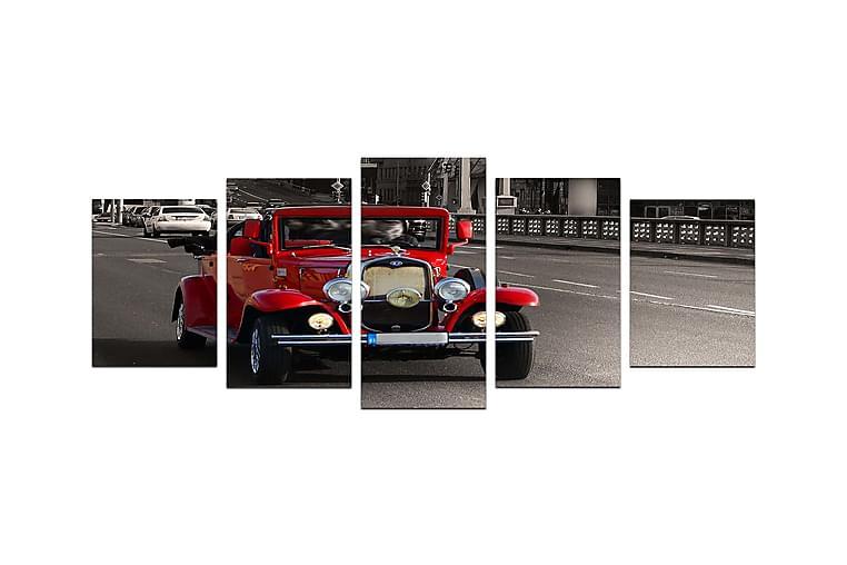 Canvasbilde Vehicles 5-pk Flerfarget - 22x06 cm - Innredning - Veggdekorasjon - Posters