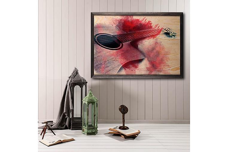 Dekorativ Bilde med Treramme - Flerfarget - Innredning - Veggdekorasjon - Posters