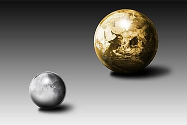 Gold Moon and Earth Poster