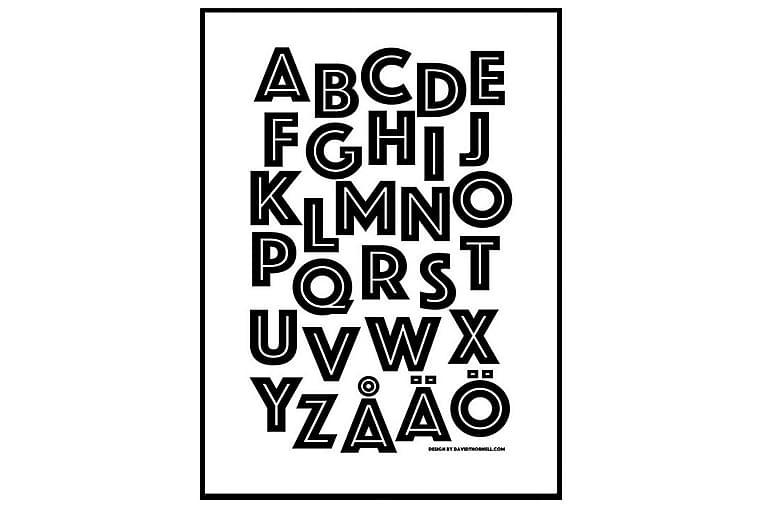 Poster Alfabetet Wild