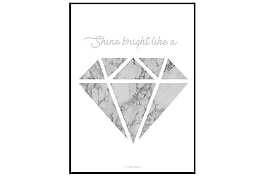 Poster Grey marble