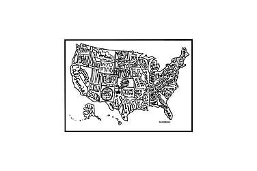 Poster USA kart