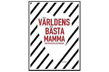Poster Världens bästa mamma hjärta