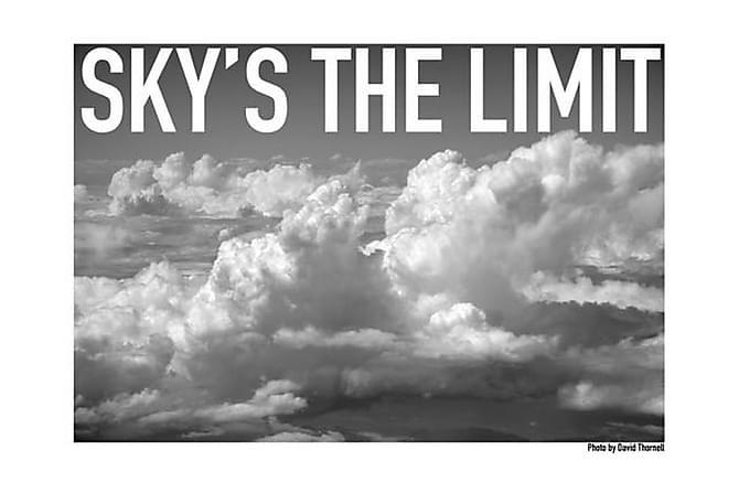 Sky's the limit Poster - 61x91 - Innredning - Veggdekorasjon - Posters