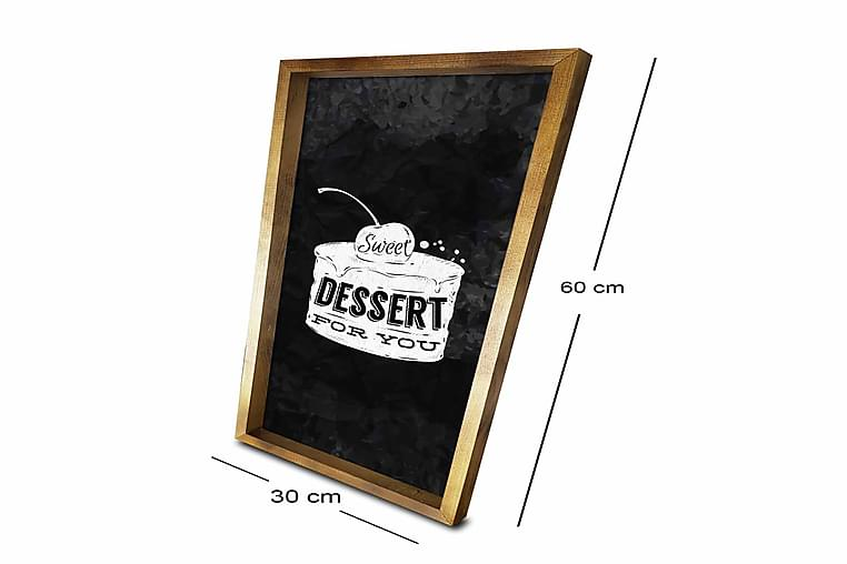 Bilde Kitchen med Ramme Flerfarget - 33x06 cm - Innredning - Veggdekorasjon - Rammer