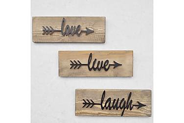 Evila Veggdekorasjon Love Live Laugh '