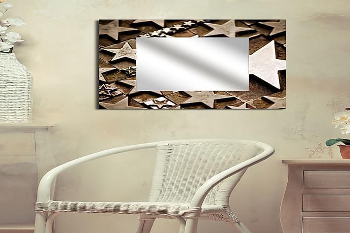 Armavir Dekorasjonsspeil 50x50 cm Christmas - Plexiglass / flerfarget - Innredning - Veggdekorasjon - Speil