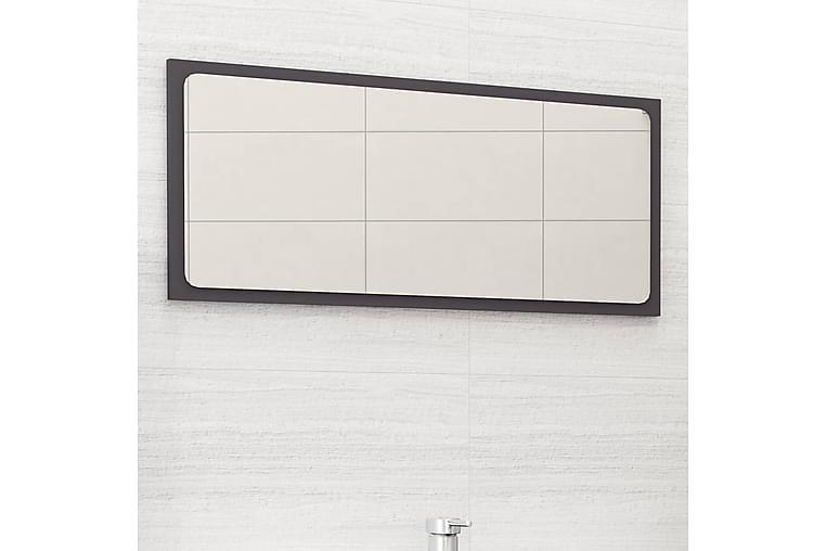 Baderomsspeil grå 80x1,5x37 cm sponplate - Grå - Innredning - Veggdekorasjon - Speil