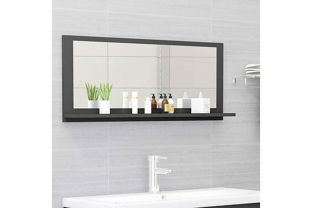 Baderomsspeil grå 90x10,5x37 cm sponplate - Grå - Innredning - Veggdekorasjon - Speil
