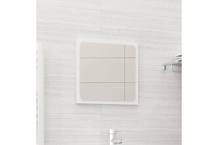 Baderomsspeil høyglans hvit 40x1,5x37 cm sponplate - Hvit - Innredning - Veggdekorasjon - Speil