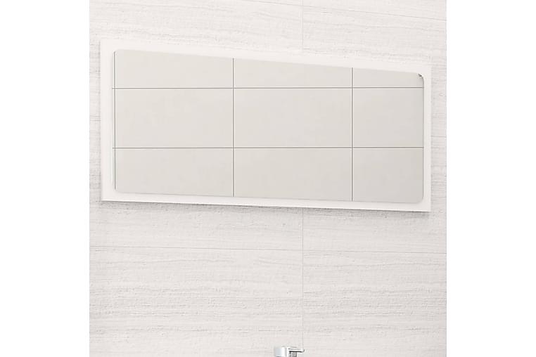 Baderomsspeil høyglans hvit 80x1,5x37 cm sponplate - Hvit - Innredning - Veggdekorasjon - Speil