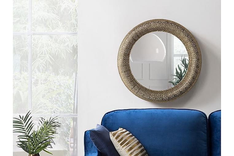 Channay Speil 80 cm - Gull - Innredning - Veggdekorasjon - Speil
