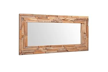 Dekorativt speil teak 120x60 cm rektangulært