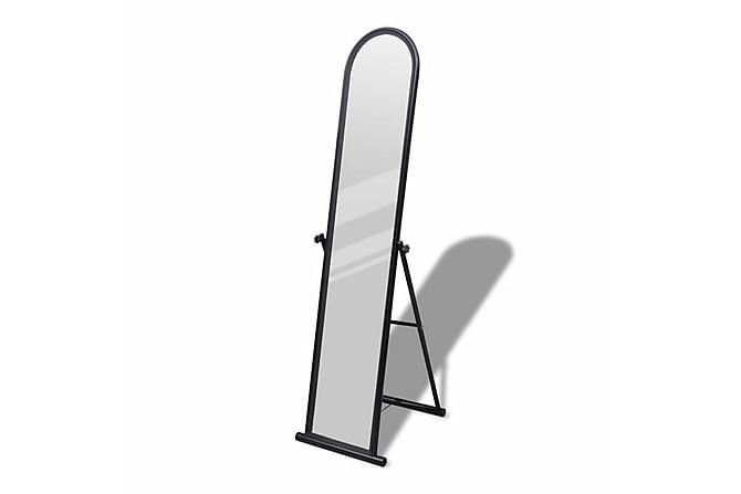 Frittstående Gulv Speil Full Lengde Svart - Innredning - Veggdekorasjon - Speil