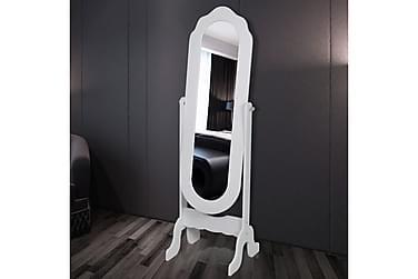 Frittstående Speil Hvit Justerbar