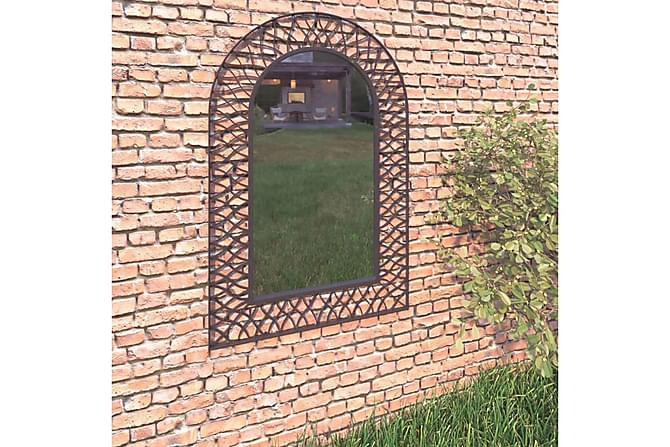 Hagespeil buet 50x80 cm svart - Innredning - Veggdekorasjon - Speil