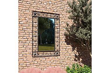 Hagespeil rektangulært 50x80 cm svart