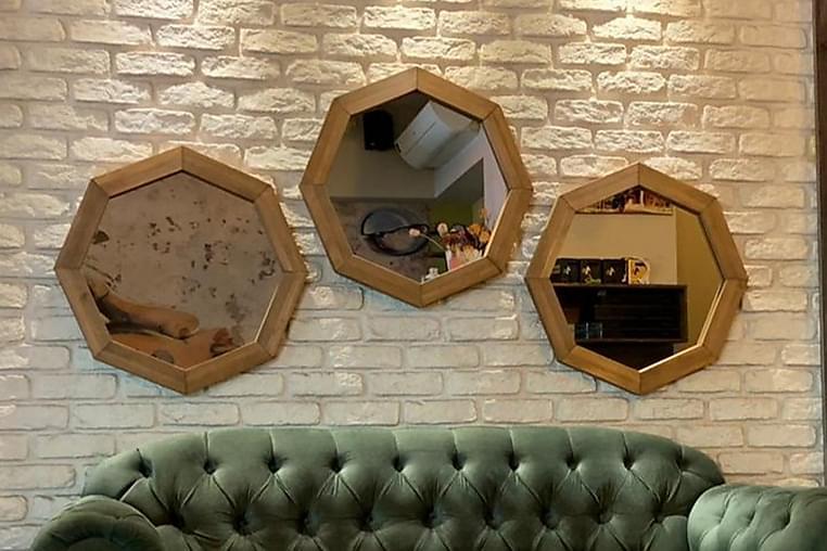 Lorma Speil 3-delt 60 cm - Valnøtt - Innredning - Veggdekorasjon - Speil