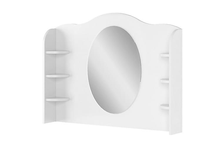 Luna Speil 94x14x81 cm - Hvit - Innredning - Veggdekorasjon - Speil