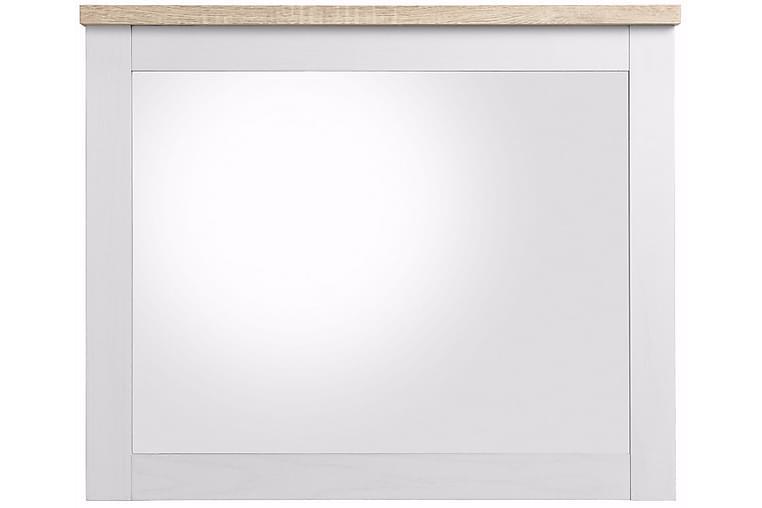 Naveen Speil 80 cm - Hvit / Brun - Innredning - Veggdekorasjon - Speil