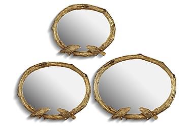Noble Life Speil sett om 3 Oval Polyester