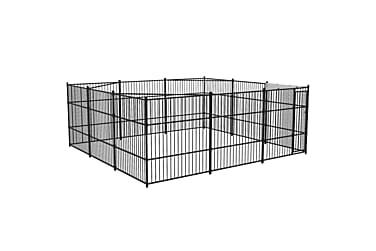 Utendørs hundegård 500x500 cm