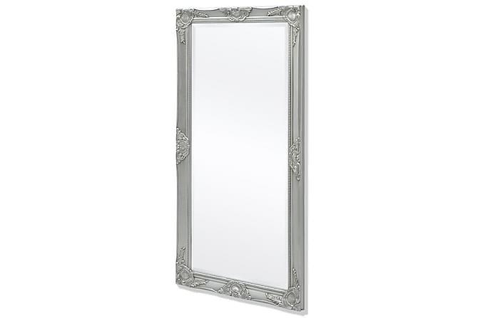 Vegg Speil Barokk Stil 120x60 cm Sølv - Innredning - Veggdekorasjon - Speil