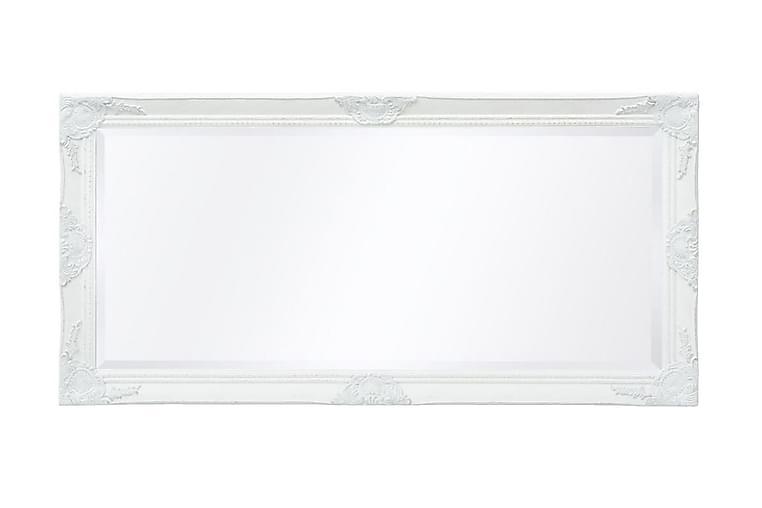 Veggspeil Barokkstil 120x60 cm Hvit - Innredning - Veggdekorasjon - Speil