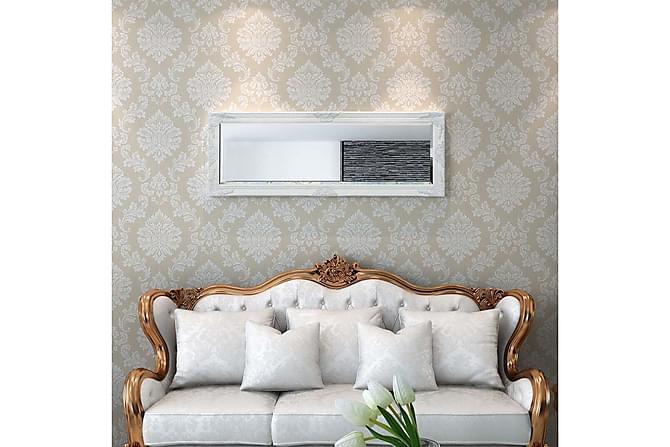 Veggspeil Barokkstil 140x50 cm Hvit - Innredning - Veggdekorasjon - Speil